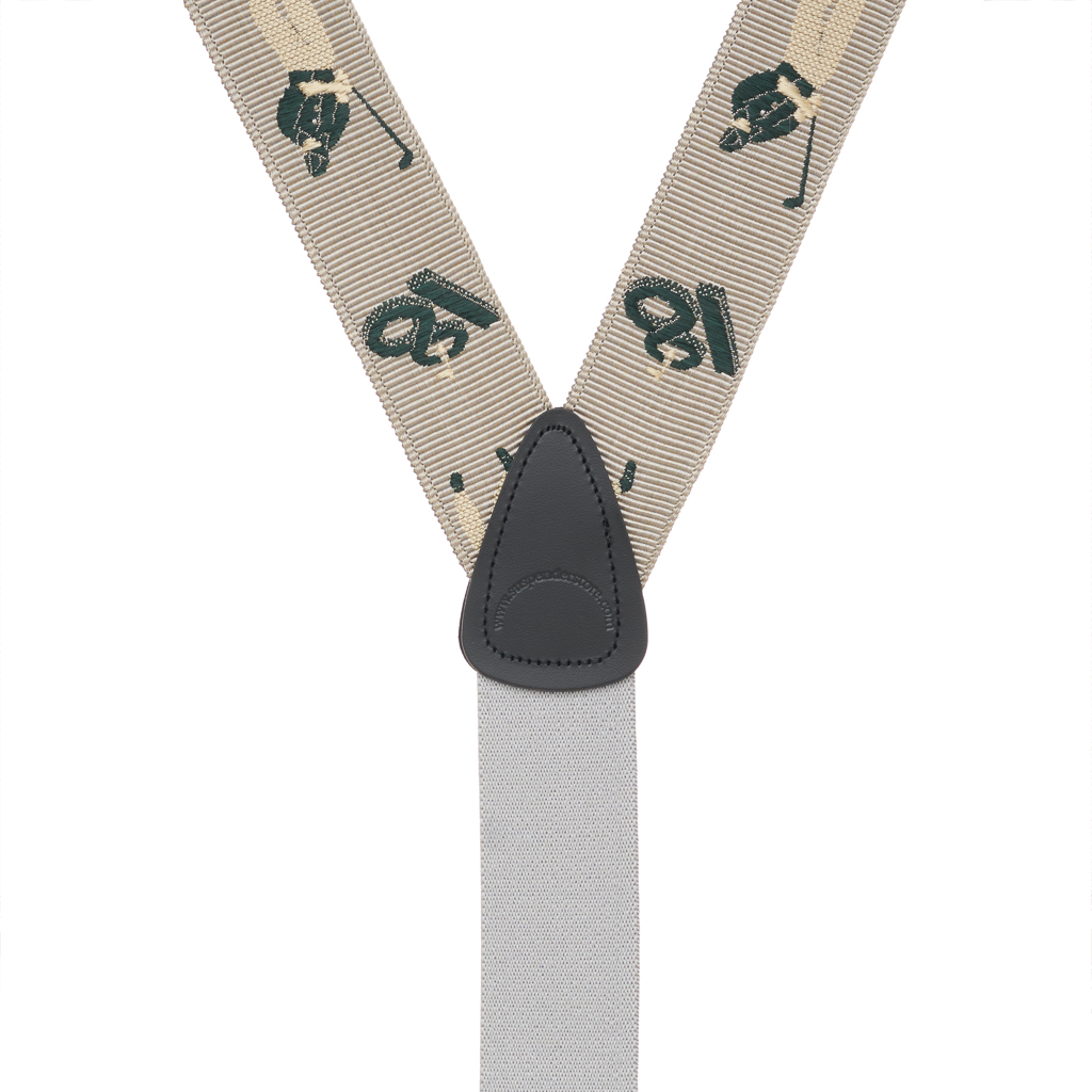 Grosgrain Button Suspenders - Golfer Rear View