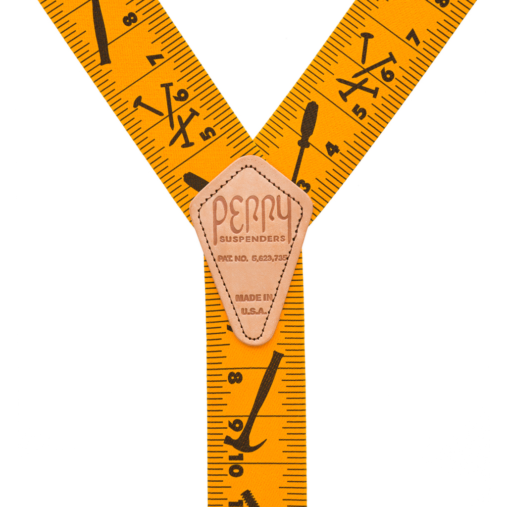 Perry Suspenders - Rear View - Tape Measure