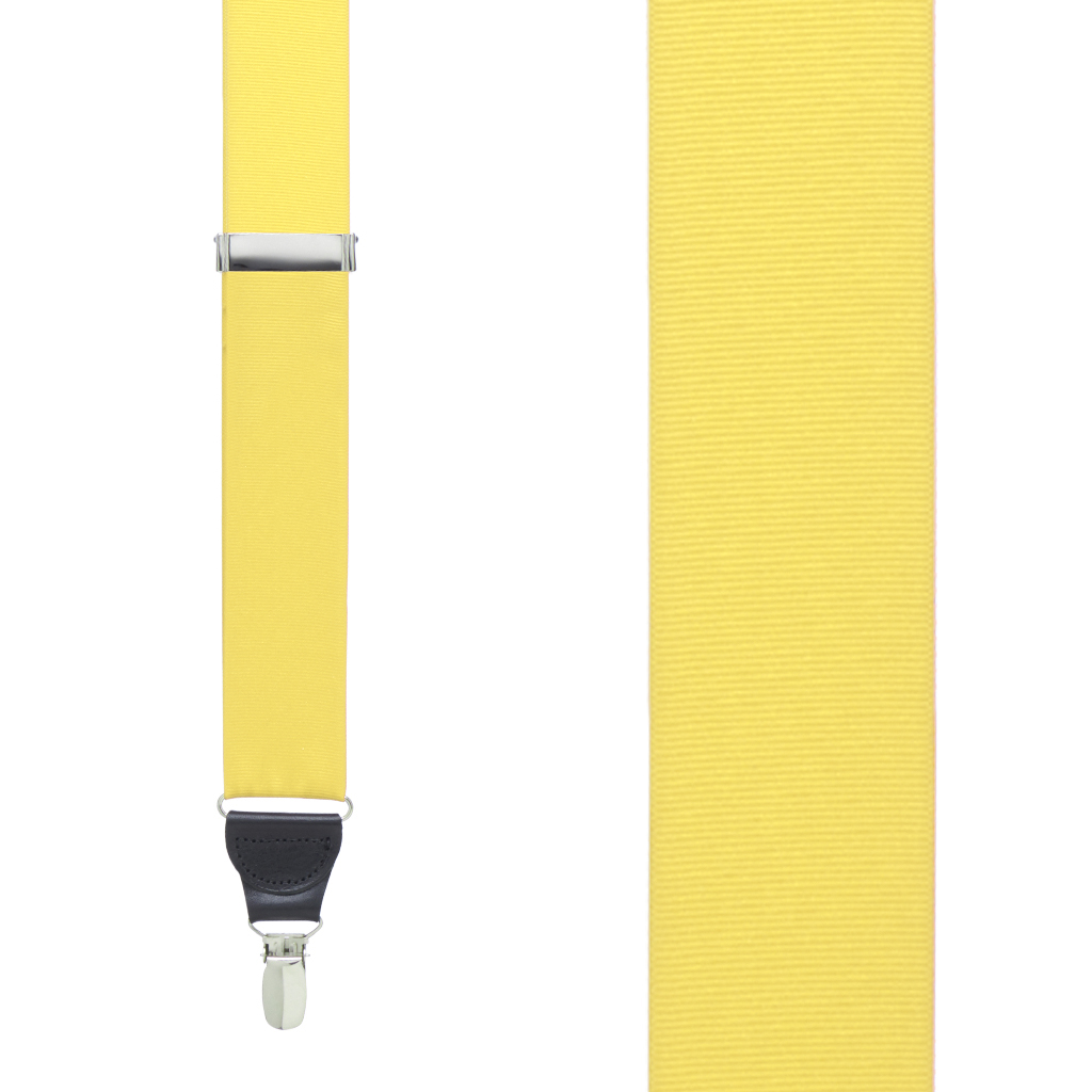 Grosgrain Clip Suspenders - Yellow Front View