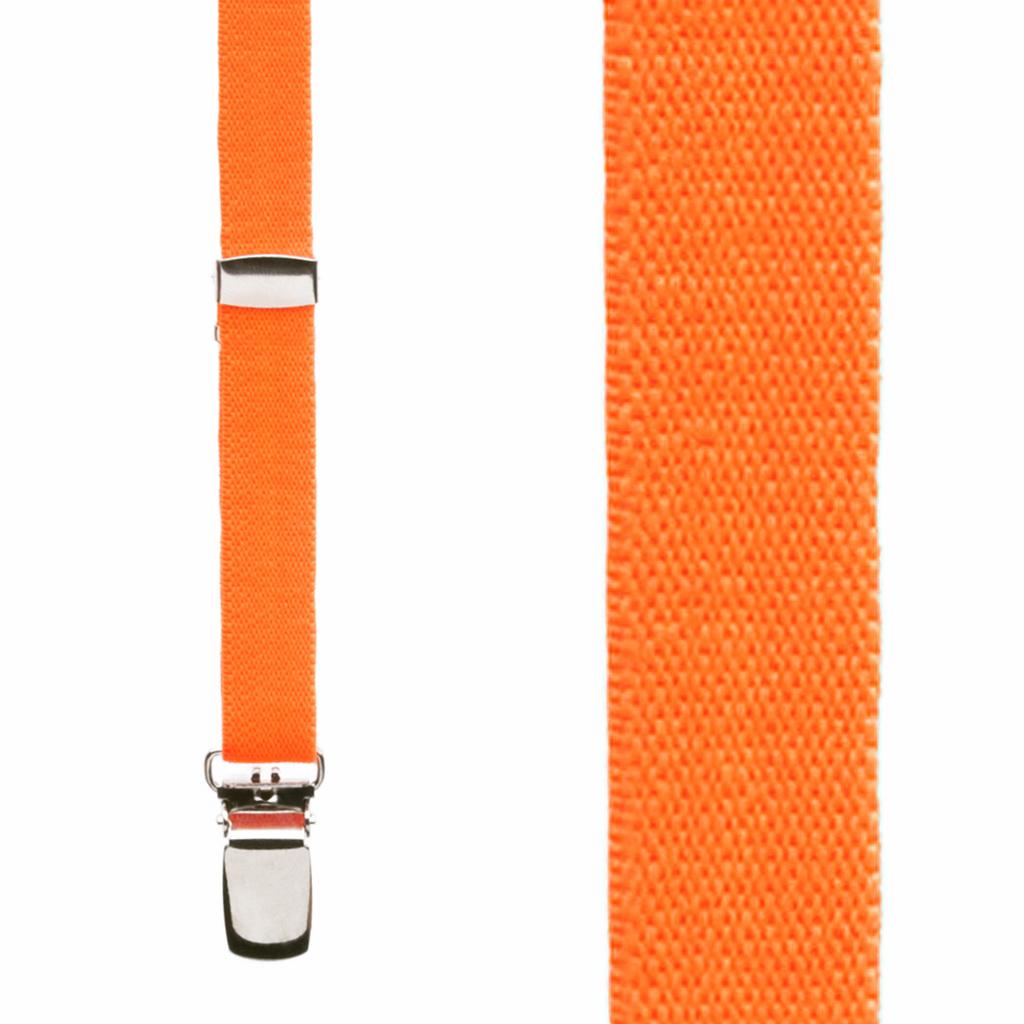 Skinny Suspenders in Neon Orange - Front View
