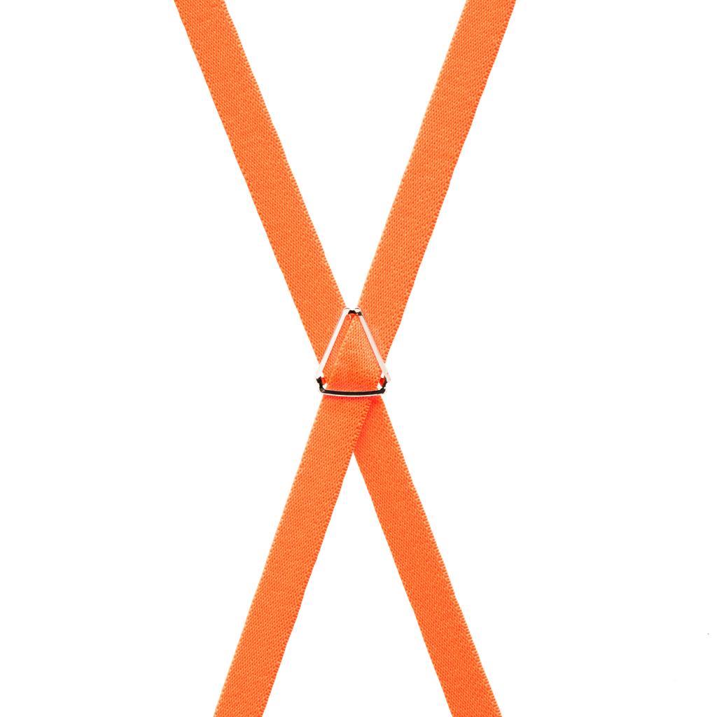 Neon Orange Skinny Suspenders Rear View