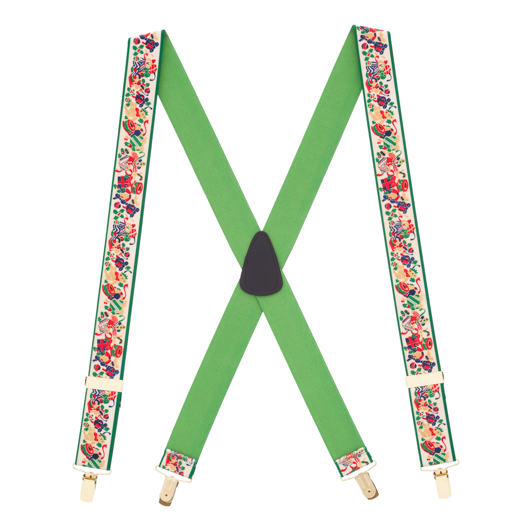 Christmas Presents Suspenders - Full View