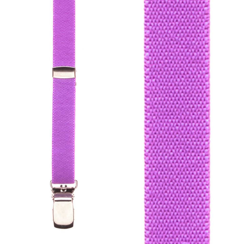 Skinny Suspenders in Neon Purple - Front View