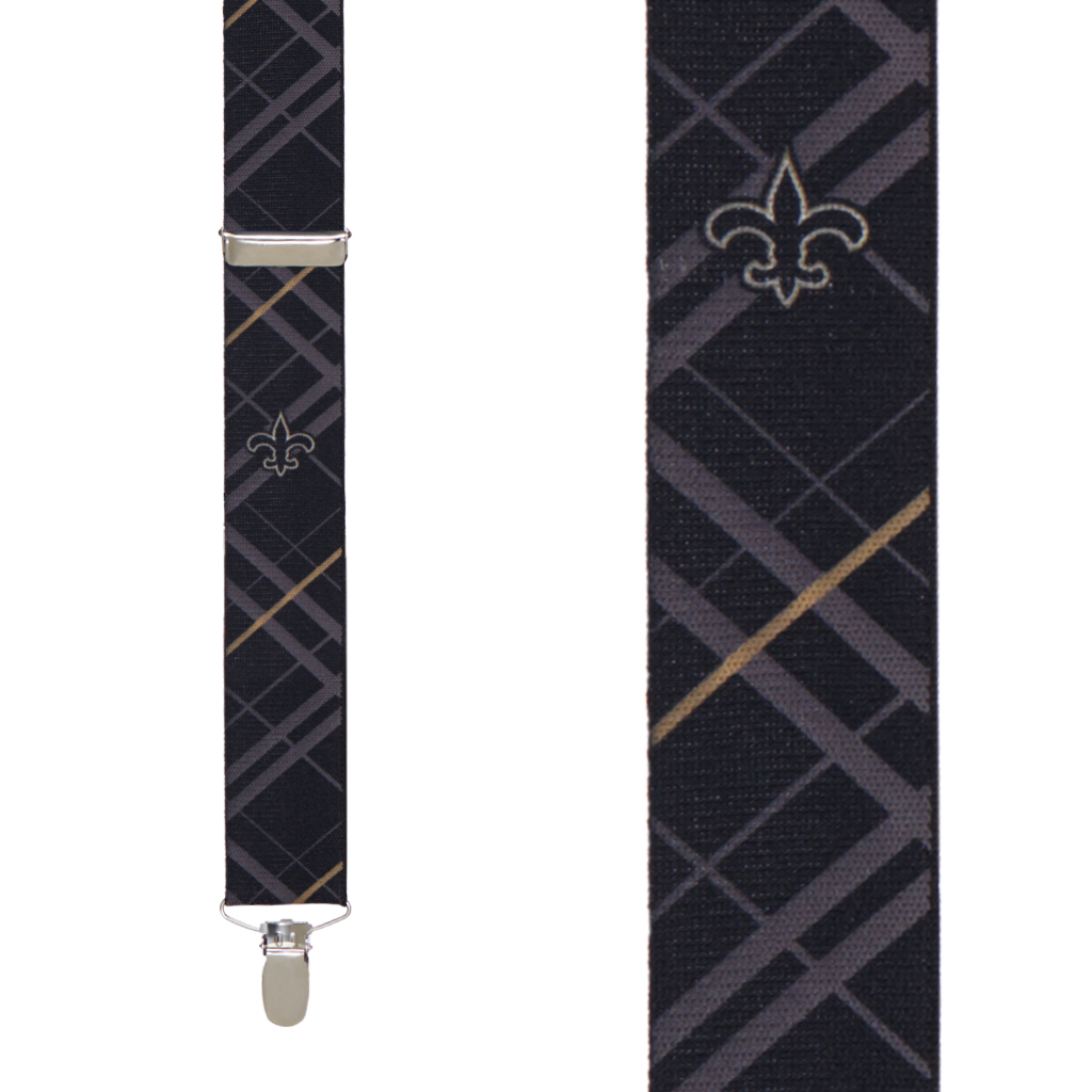New Orleans Saints Suspenders - Front View