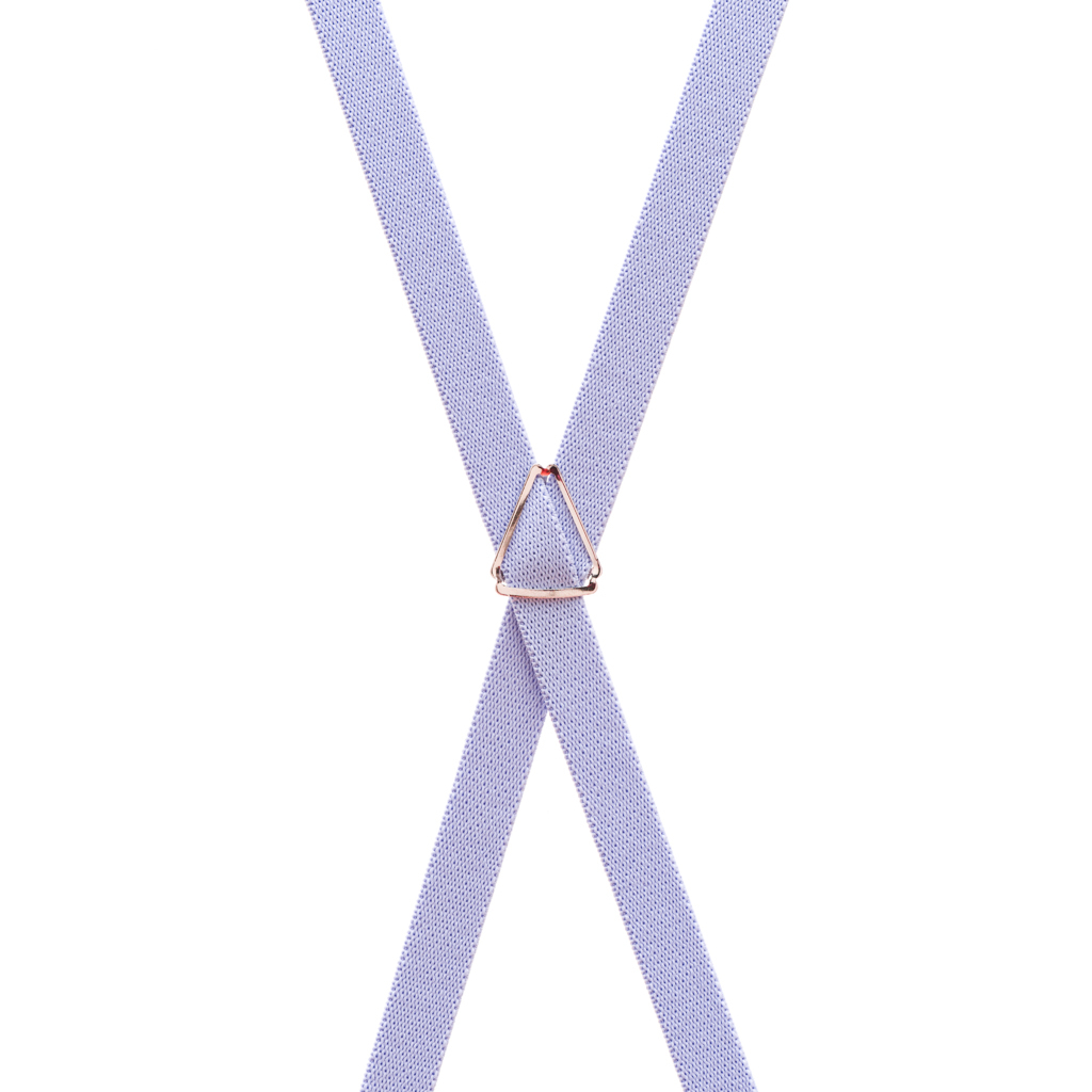 Matte Finish Suspenders in Lilac - Rear View