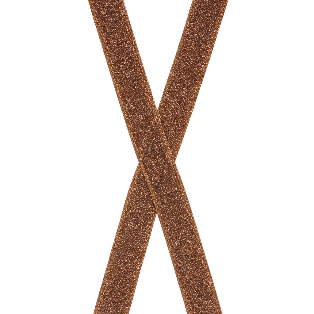 Glitter Suspenders Rear View Copper