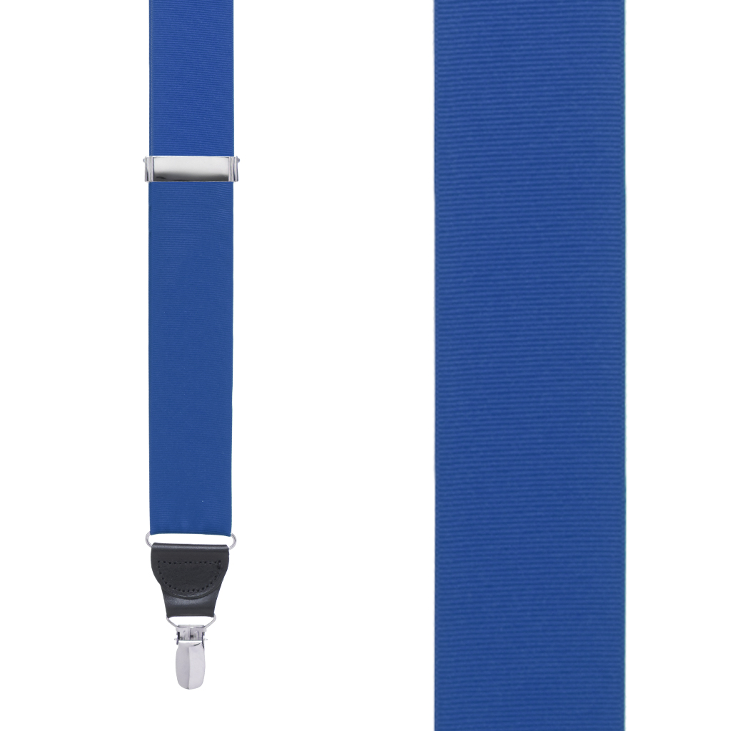 Grosgrain Clip Suspenders - Royal Blue Front View