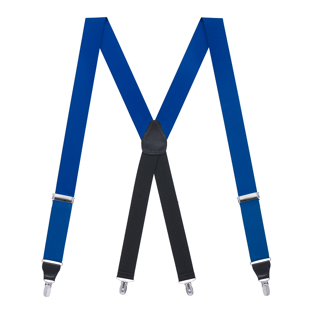 Grosgrain Clip Suspenders - Royal Blue Full View