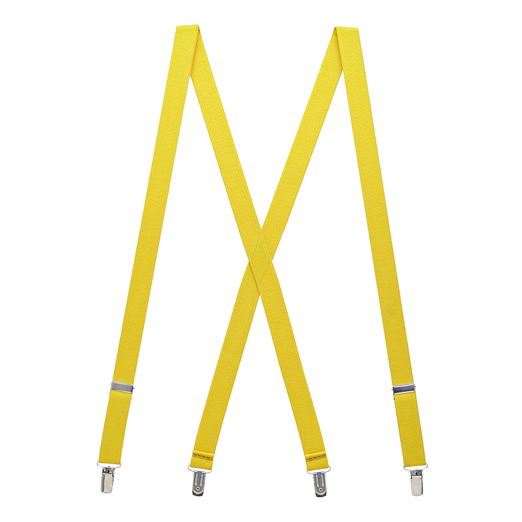 Canary Yellow X-Back Suspenders Full View
