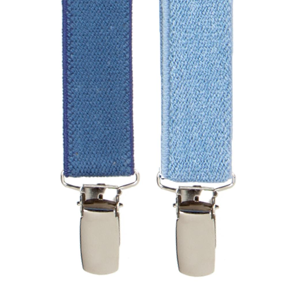 Dark Denim & Light Denim Suspenders
