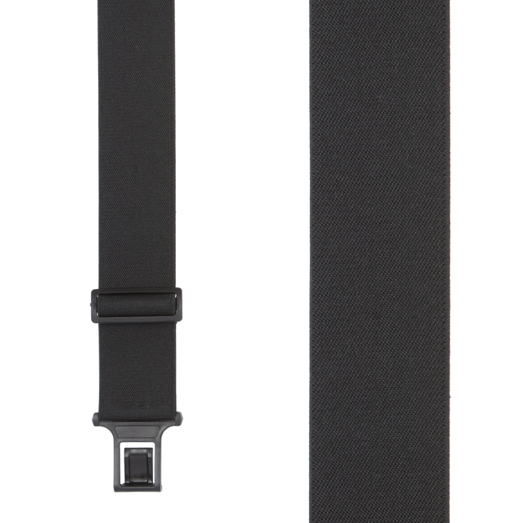 Perry Suspenders - Front View - Black Big & Tall