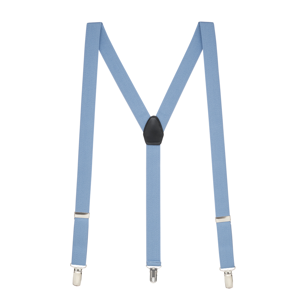 Fresh Hues Suspenders in Periwinkle - Full View