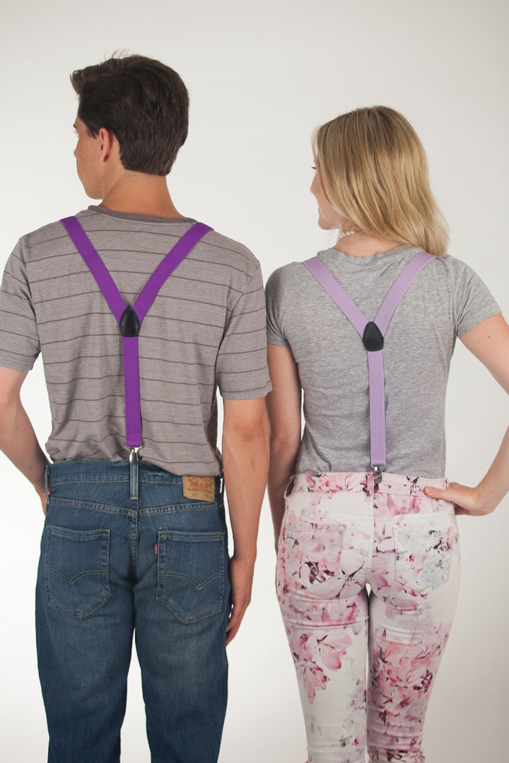 1 Inch Wide  Fresh Hues Clip Suspenders (Y-Back)