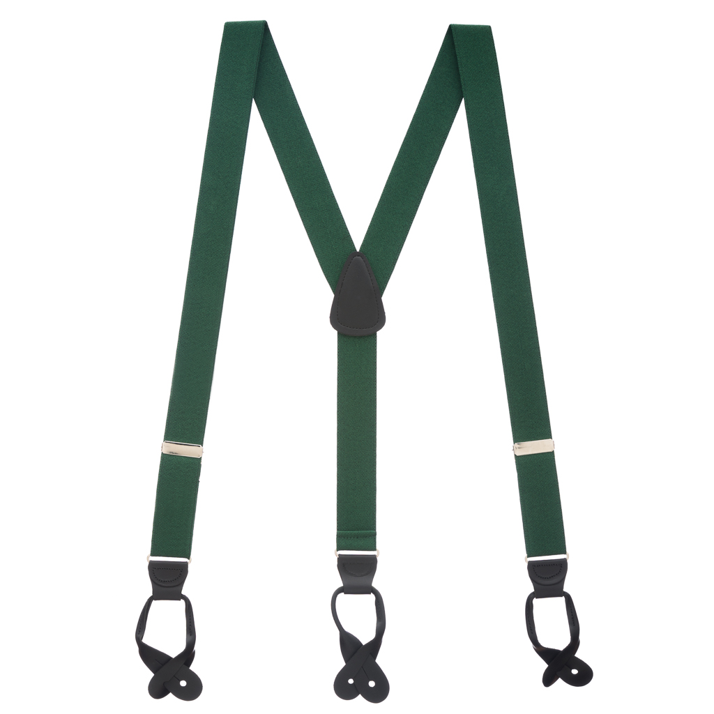 1.25-Inch Wide Suspenders in Hunter - Full View