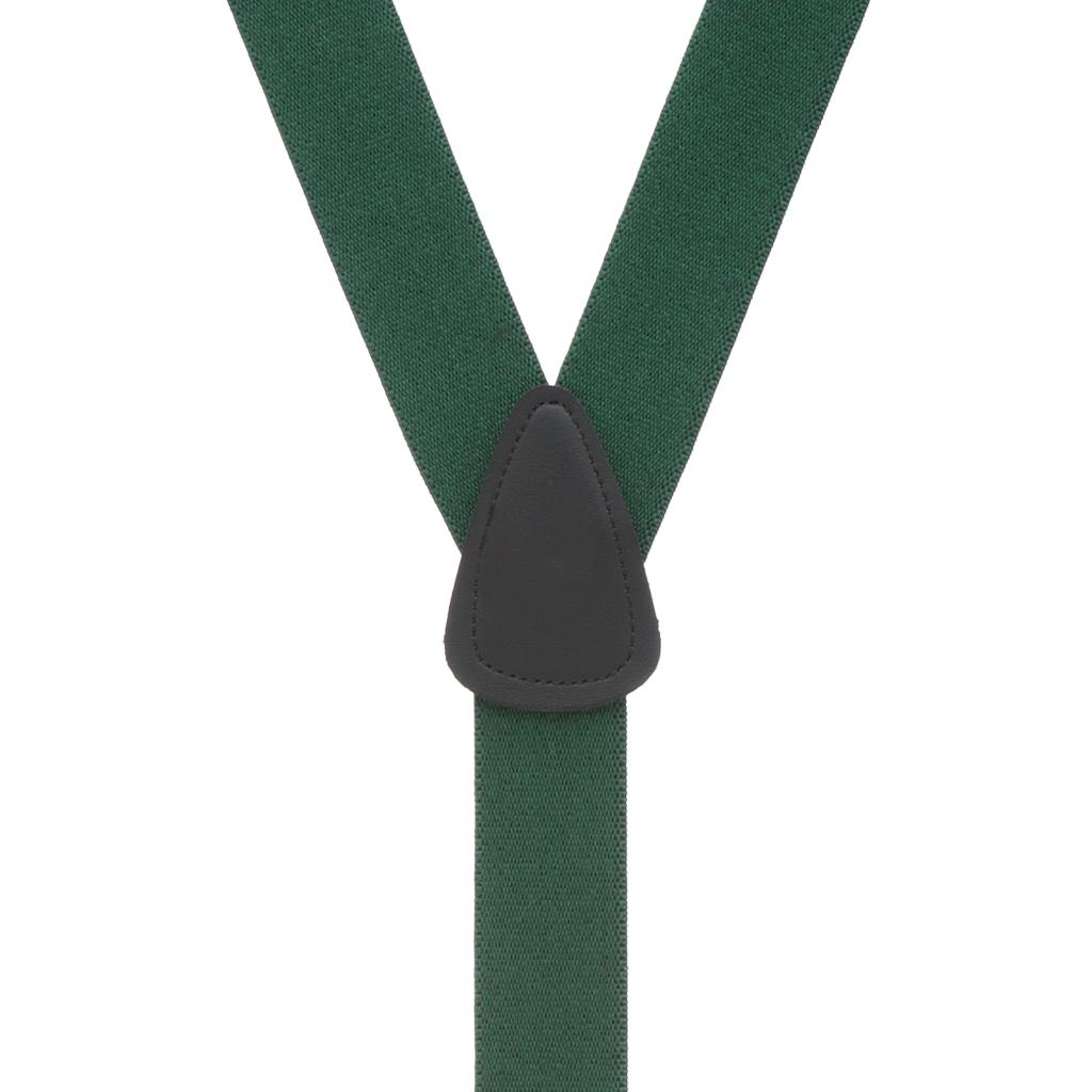 1.25-Inch Wide Suspenders in Hunter - Rear View