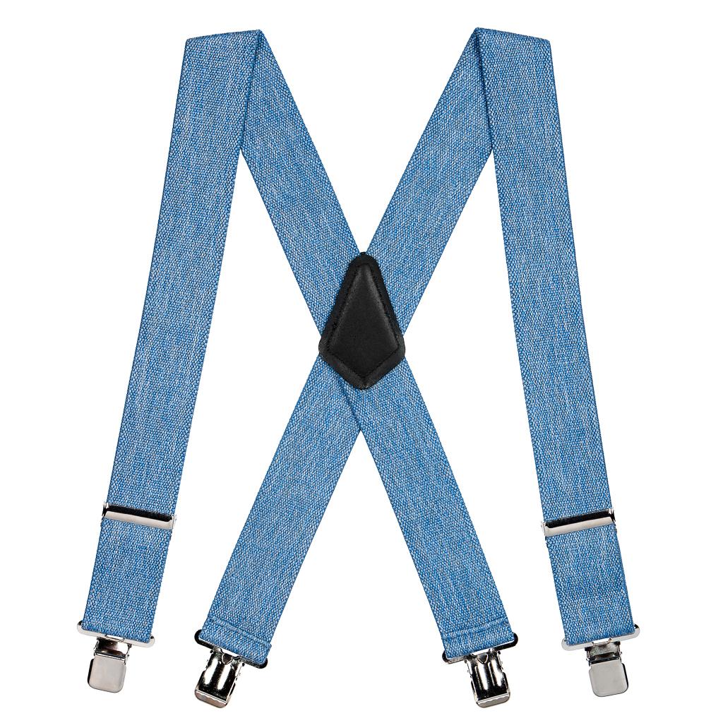 Classic Suspenders - Full View - Denim