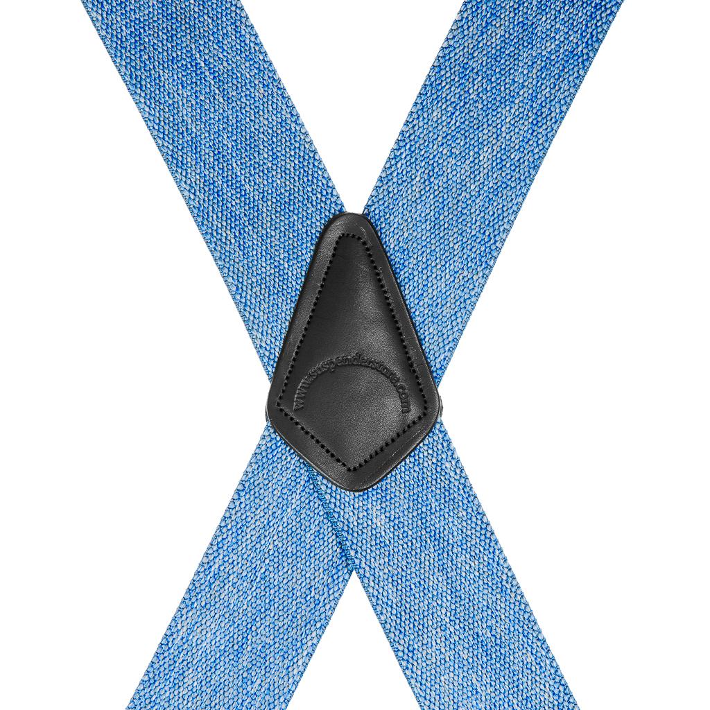 Classic Suspenders - Rear View - Denim