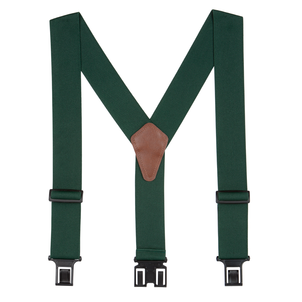 Perry Suspenders in Green - Full View