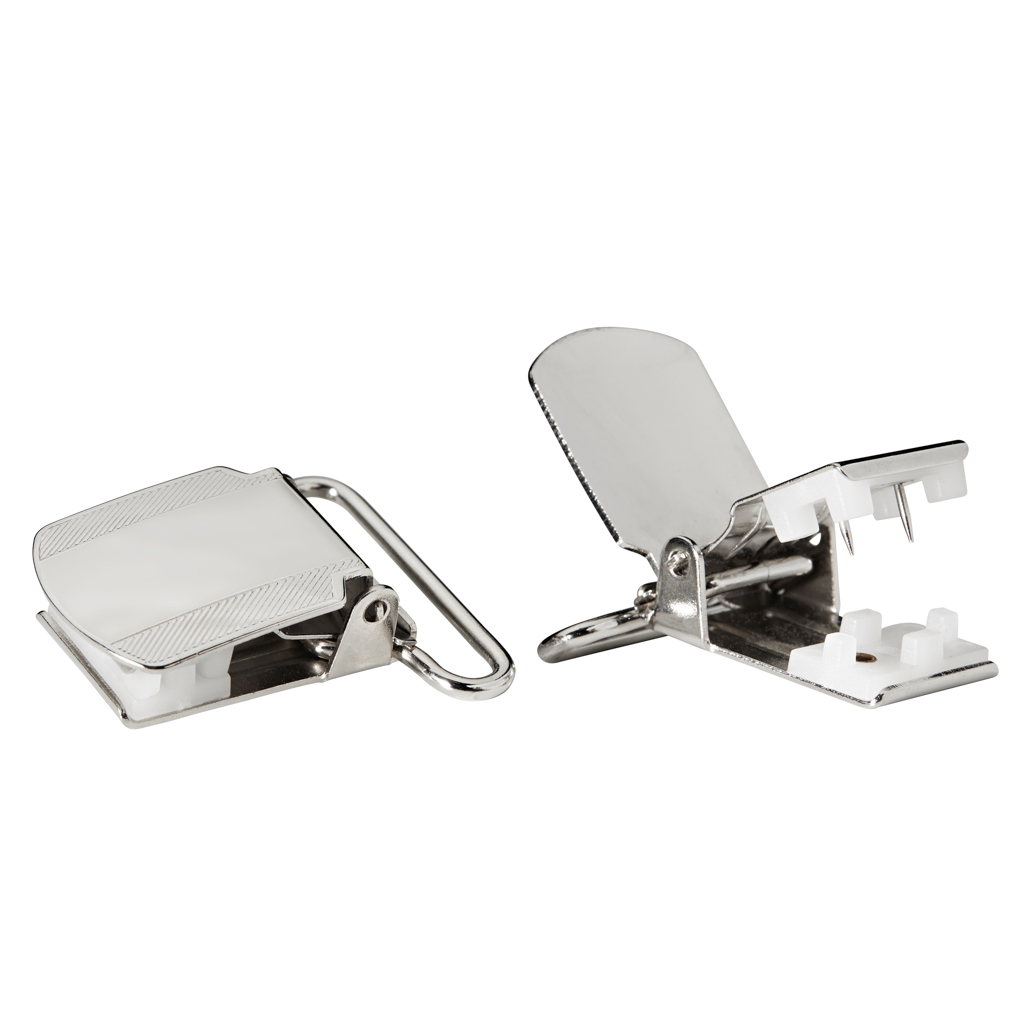 Pin Clips Large - Nickel