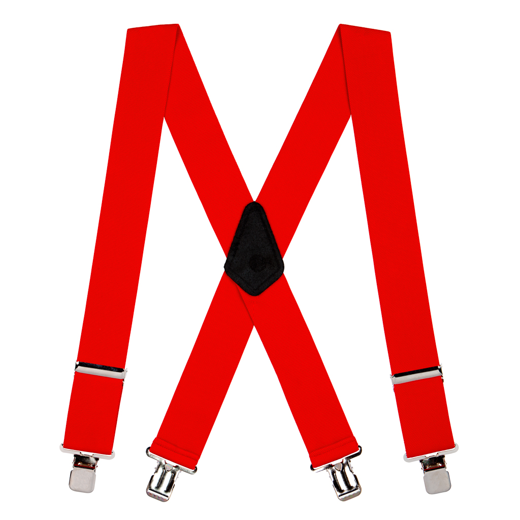 Classic Suspenders - Full View - Red