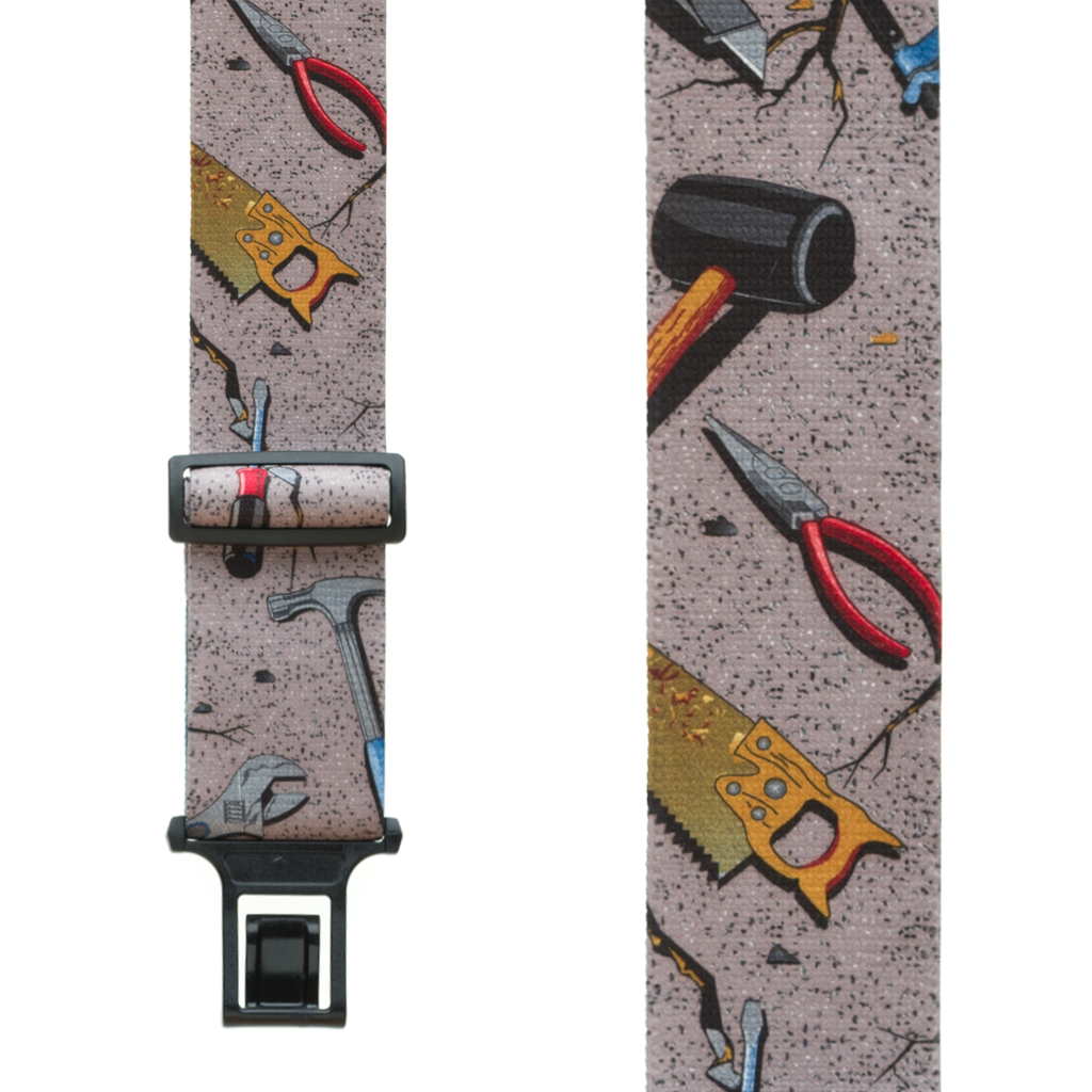 Perry Suspenders - Front View - Hand Tools on Grey