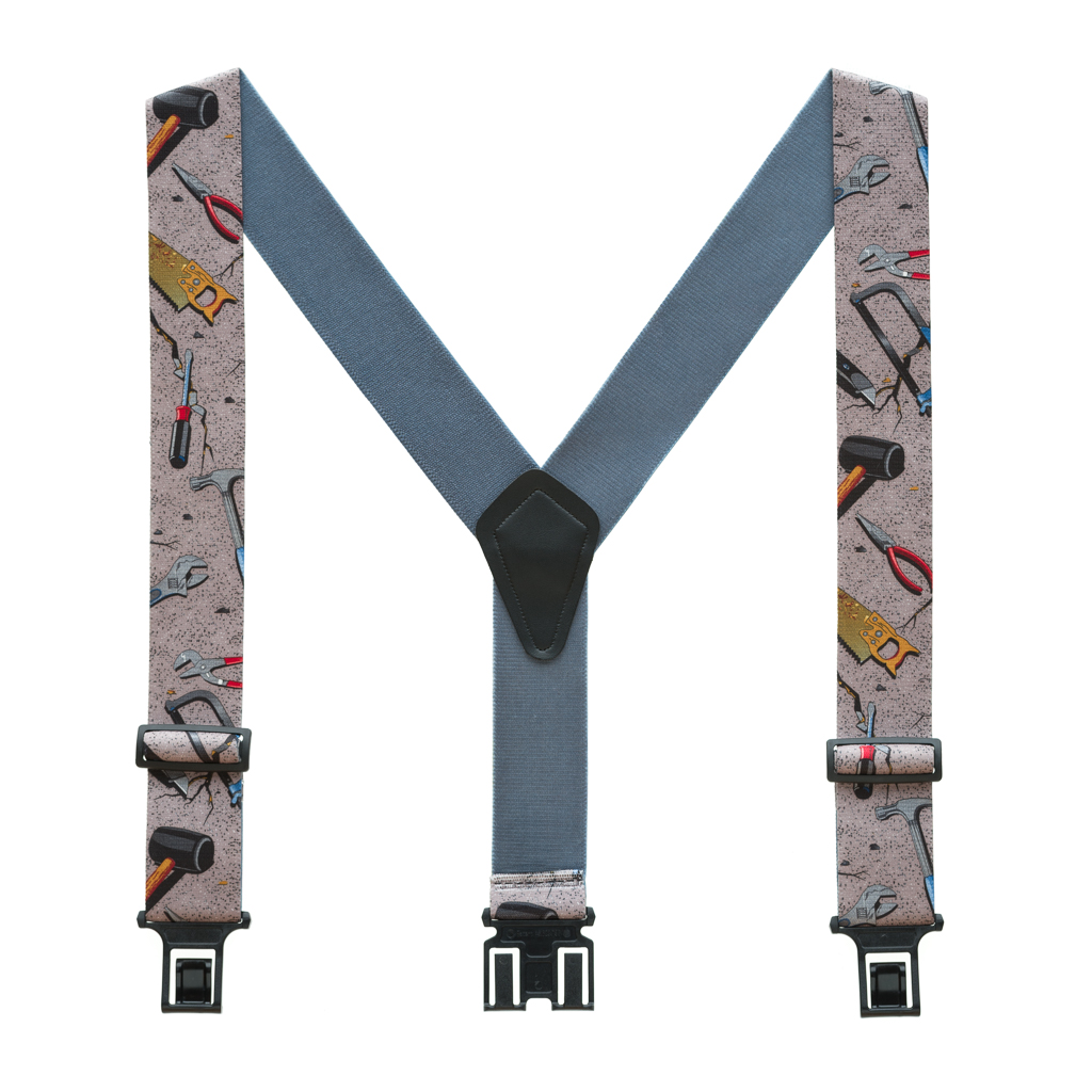 Perry Suspenders - Full View - Hand Tools on Grey