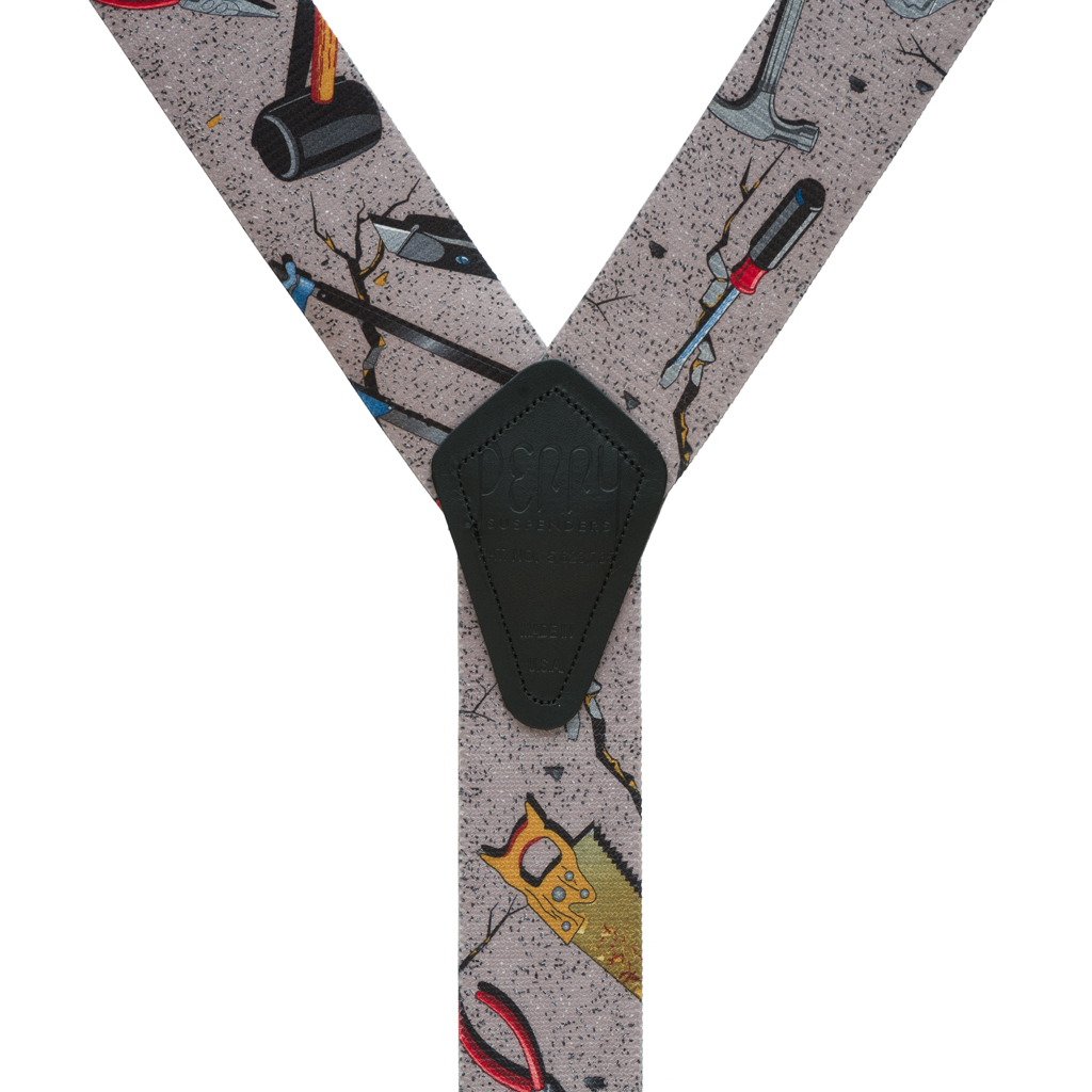 Perry Suspenders - Rear View - Hand Tools on Grey