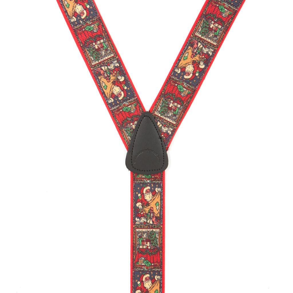 Kris Kringle Christmas Suspenders - Rear View
