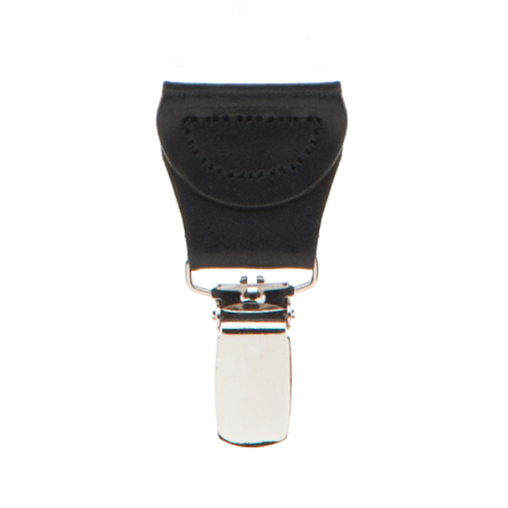 BLACK Jacquard Diamond Burst Suspenders - Clip Detailed View