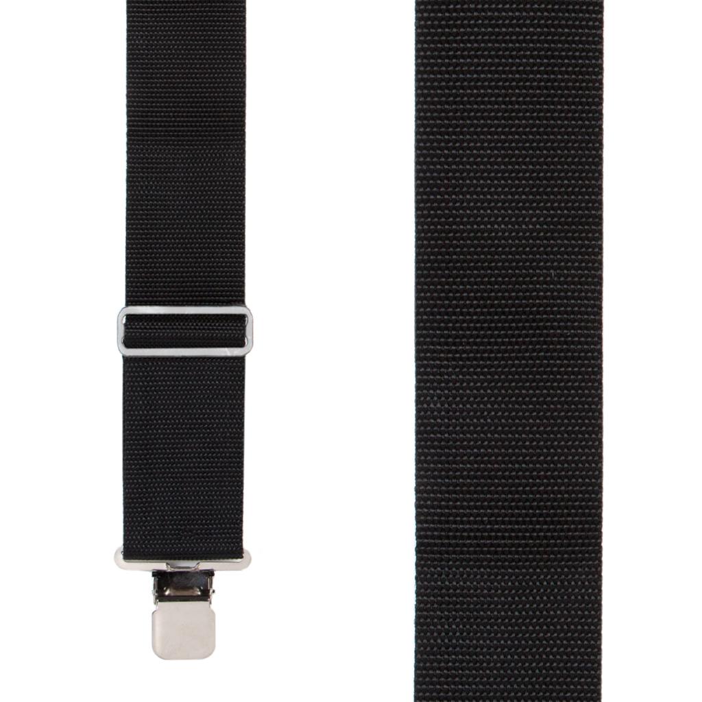 Heavy Duty Work Suspenders in Black - Front View