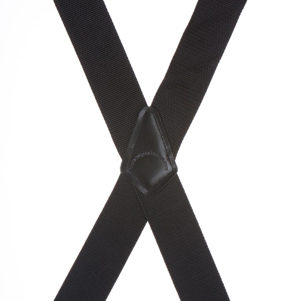Heavy Duty Work Suspenders in Black - Rear View