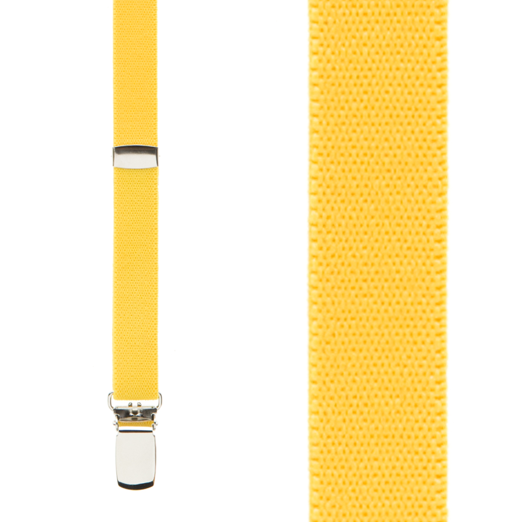 Skinny Suspenders in Yellow - Front View