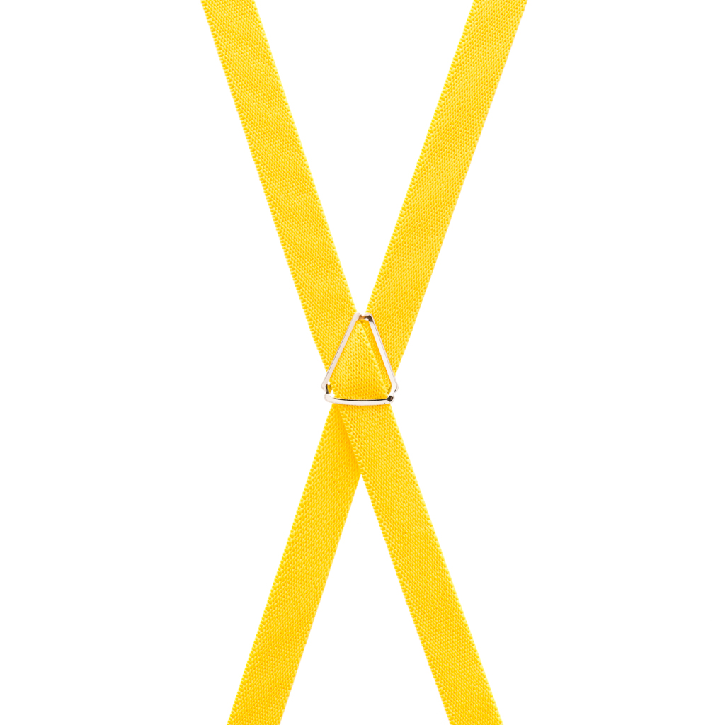 Yellow Skinny Suspenders - Rear View
