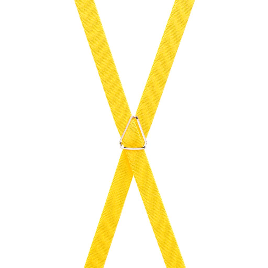 Yellow Skinny Suspenders - Rear View