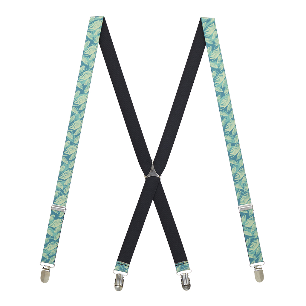 Palm Leaf Suspenders - Full View