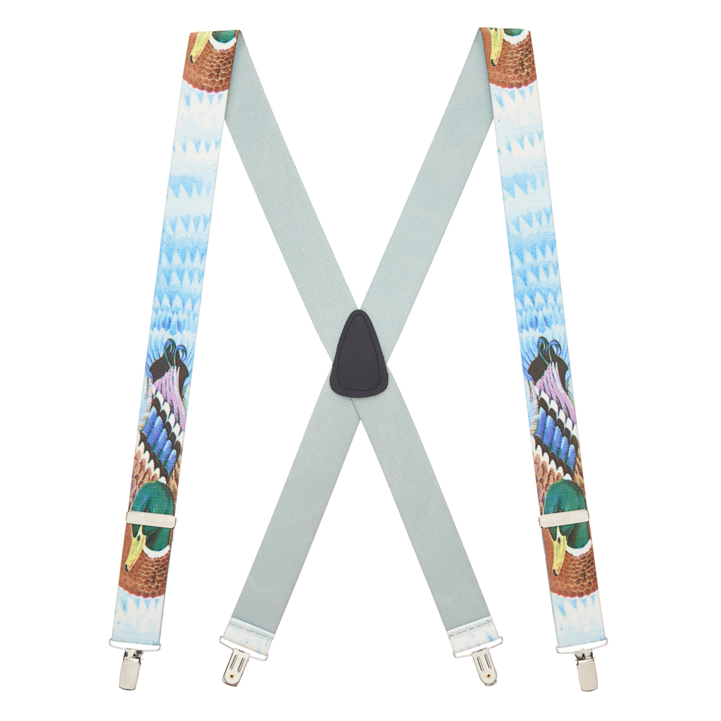 Mallard Duck Suspenders - Full View