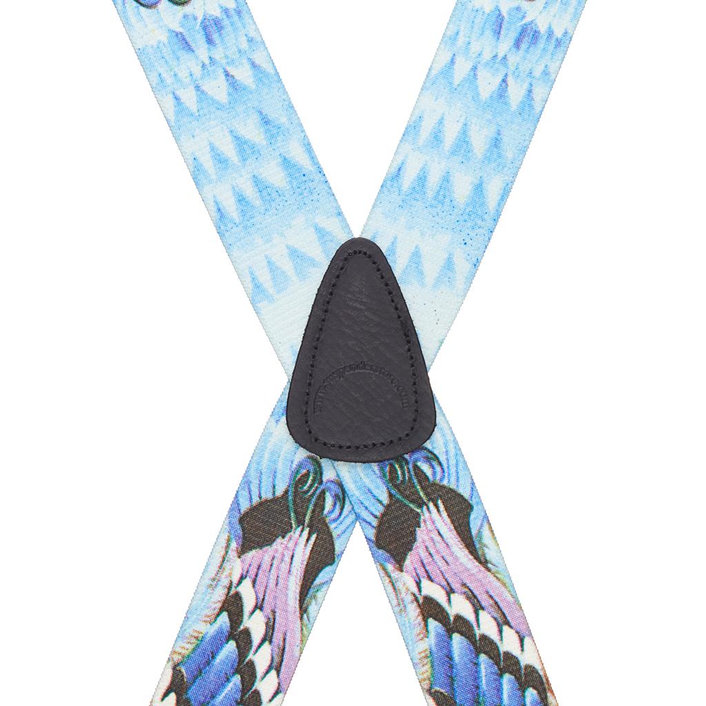 Mallard Duck Suspenders - Rear View