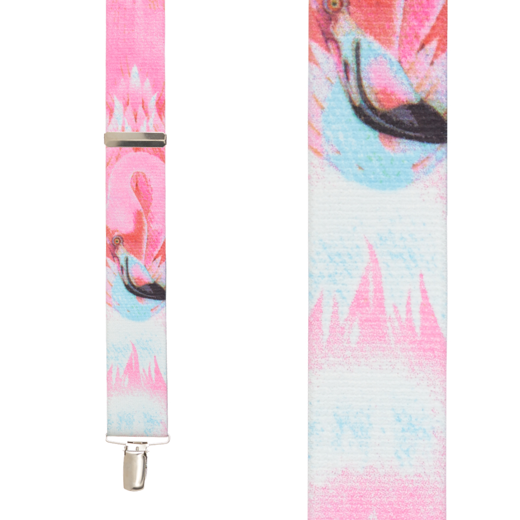 Flamingo Suspenders - Front View