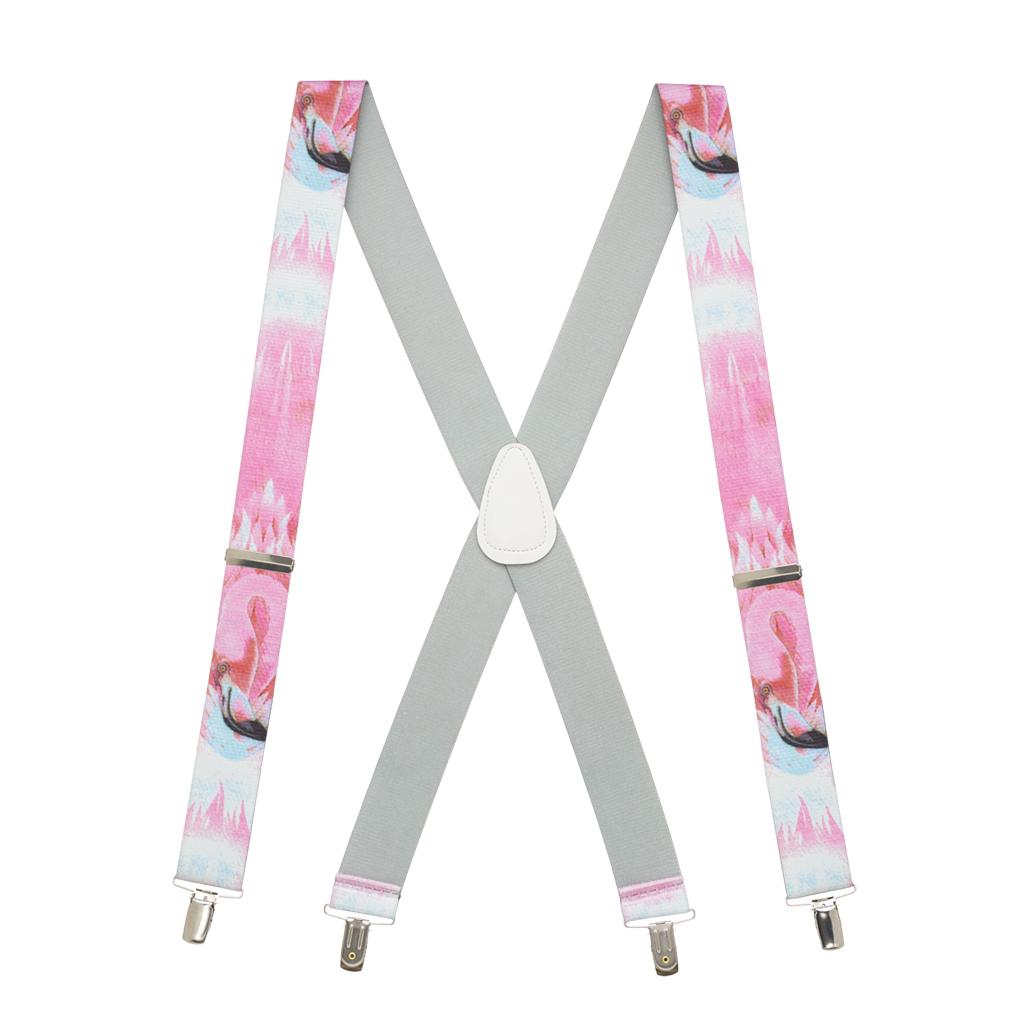 Flamingo Suspenders - Full View