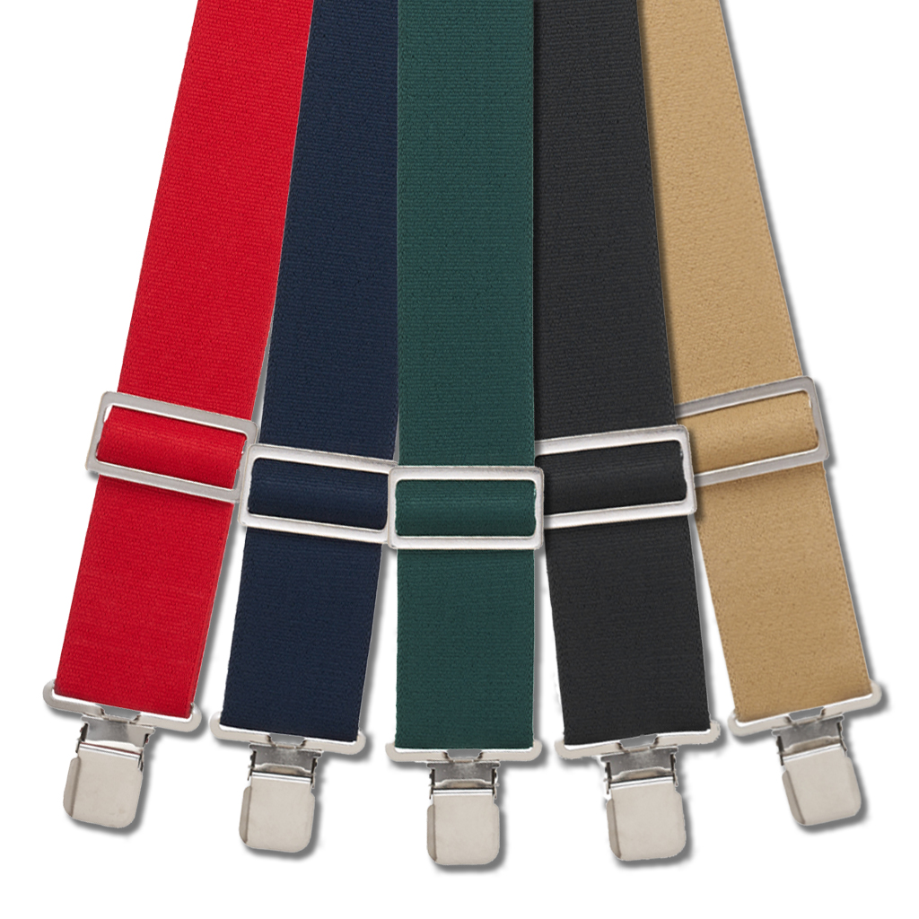 Logger Suspenders - Clip - All Colors