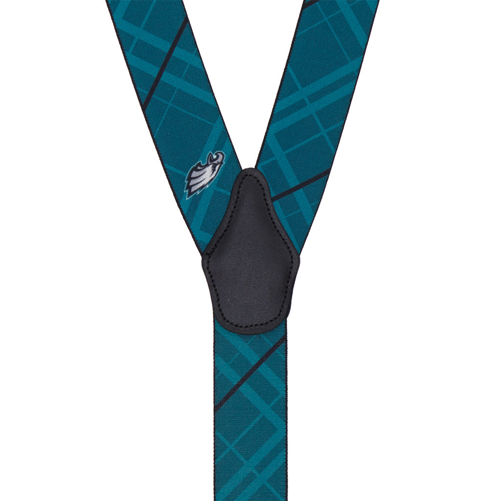 NFL Eagles Suspenders - Rear View