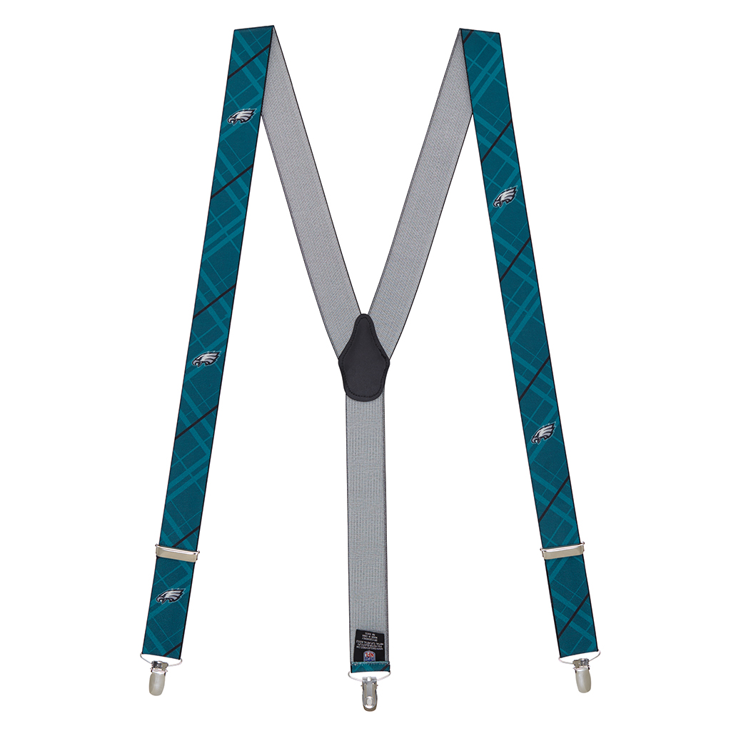 NFL Eagles Suspenders - Full View