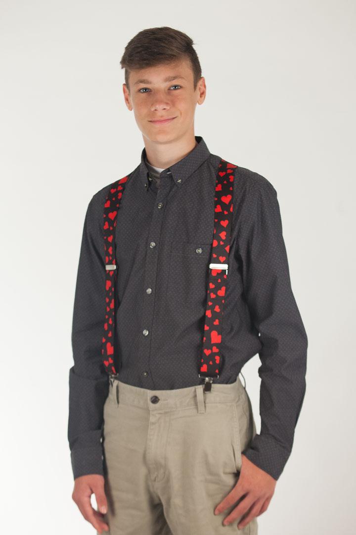 Hearts Suspenders - Clip