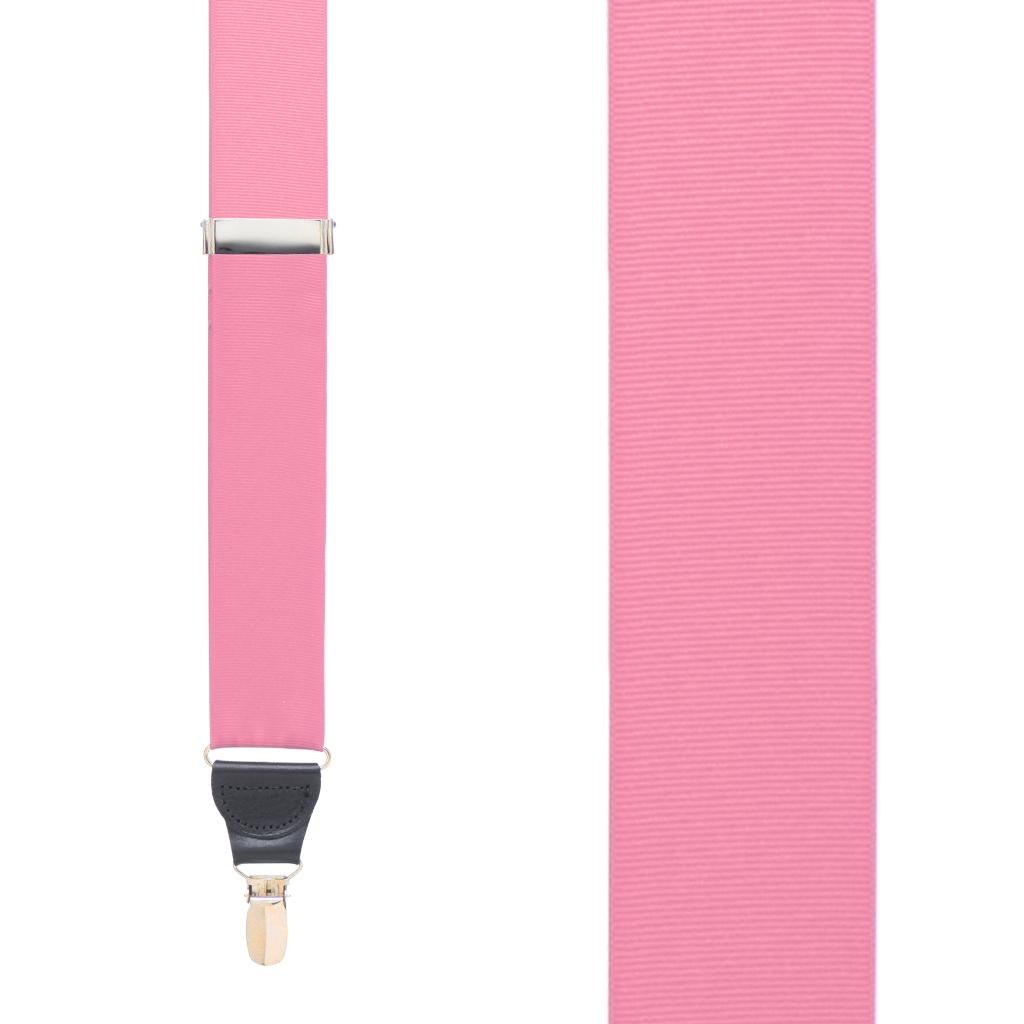 Grosgrain Clip Suspenders - Pink Front View