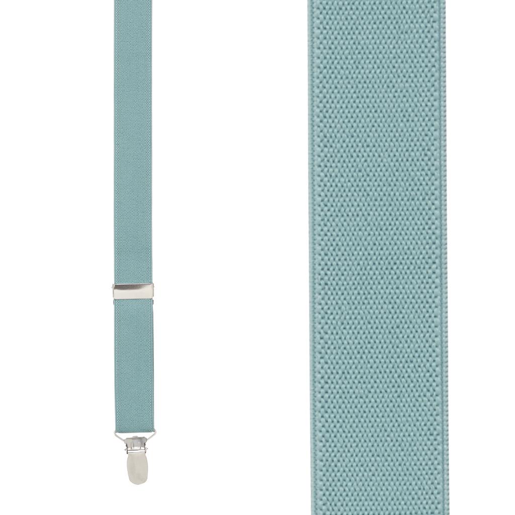 1 Inch Wide Clip Y-Back Suspenders in Seafoam - Front View