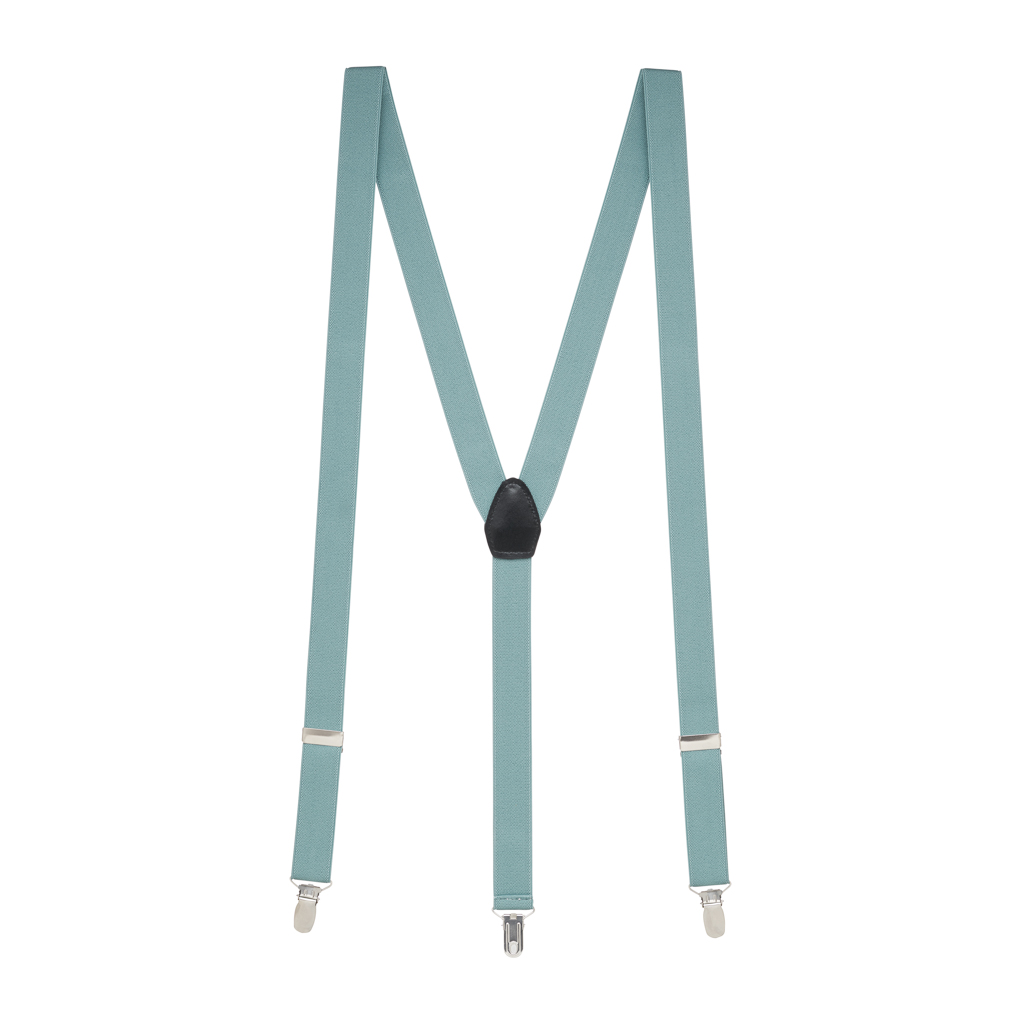 1-Inch Wide Suspenders in Seafoam - Full View