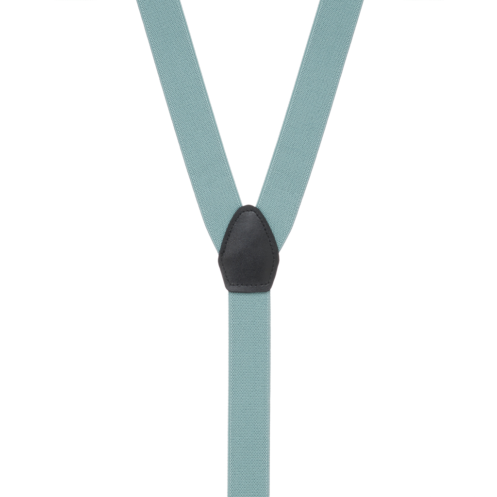 1-Inch Wide Suspenders in Seafoam - Rear View