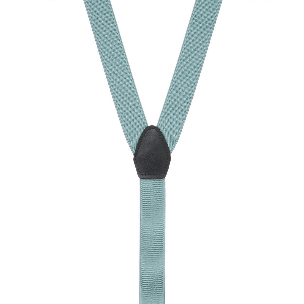 1-Inch Wide Suspenders in Seafoam - Rear View