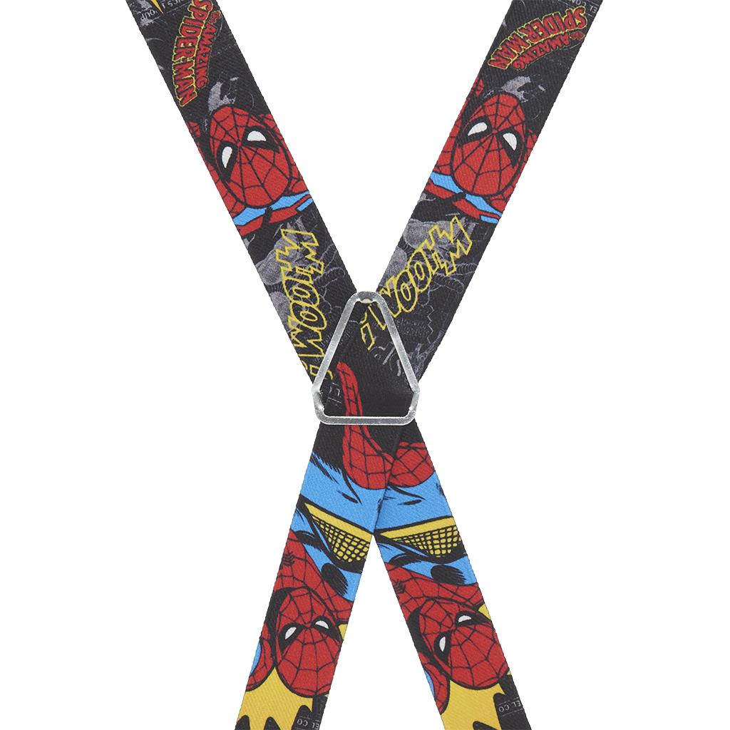 Spiderman Suspenders - Rear View