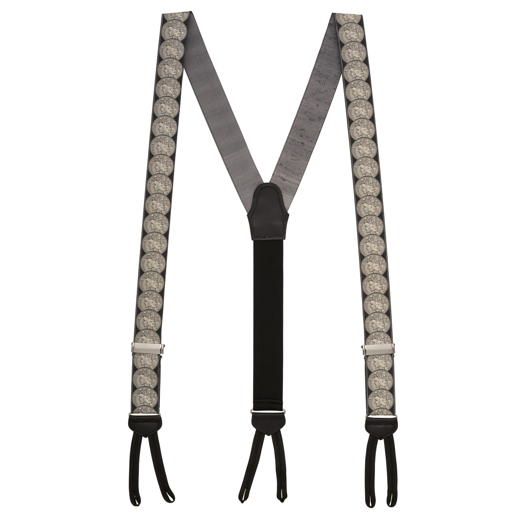 Coin of the Realm Suspenders - Full View